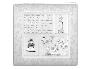 Pioneer MB-10WF4 12x12 Four Frame Wedding Memory Book