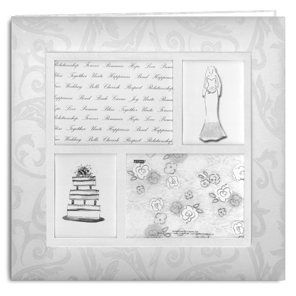 Pioneer Mb 10wf4 12x12 Four Frame Wedding Memory Book