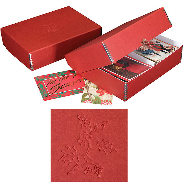Lineco Greeting Card Storage Box - Christmas