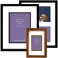 MCS Linear Wood Picture Frames - Matted