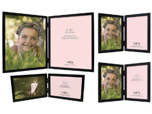 MCS Willow Wood Double Picture Frames