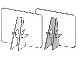 Lineco Double Wing Self Adhesive Easel Backs (400 Box)