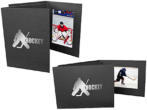 Hockey Player 4x6 Sports Event Photo Folders (25 Pack)