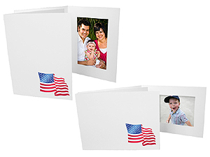 American Flag 4x6 Event Photo Folders (25 Pack)