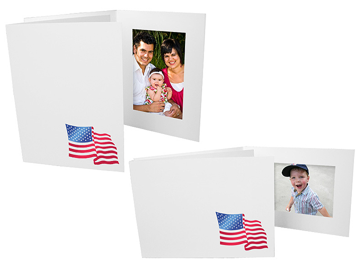 Flag 4x6 Event Photo Horizontal Folders (25 Pack)