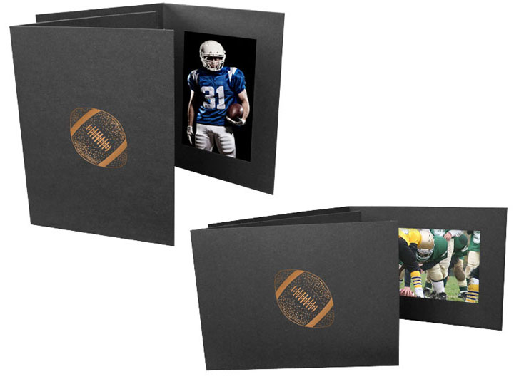 Football 4x6 Event 4x6 Horizontal Photo Folders (25 Pack)