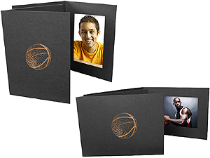 Basketball 4x6 Sports Event Photo Folders (25 Pack)