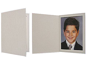 Gray Woodgrain Photo Folders (25 Pack)