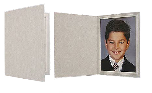 Gray Woodgrain Photo Folders For 5x7 (25 Pack)