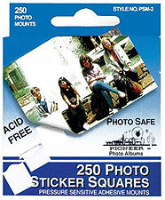 Pioneer Photo Mounts - 250 Self-Stick Tabs