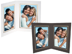 Double View Folder w/Foil Border 4x6 Vertical (25 Pack)