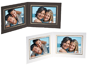Double View Folder w/Foil Border 5x4 Horizontal (25 Pack)