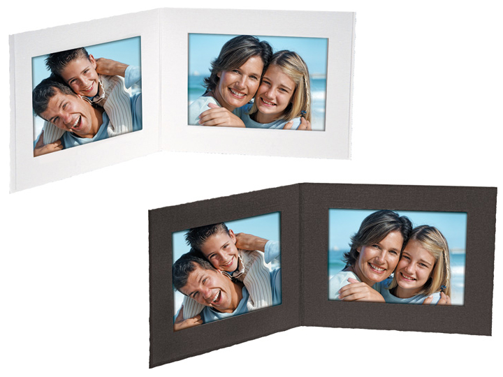 Double View Folders 6x4 Horizontal Black (25 Pack)