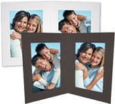 Double View Folders 4x5 Vertical (25 Pack)