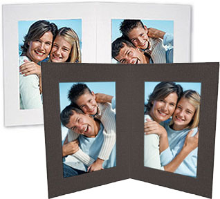 Double View Folders 4x6 Vertical Black (25 Pack)