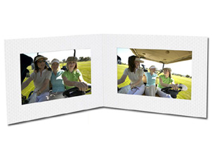 Golf Ball Texture Double View 6x4 Photo Folders (25 Pack)