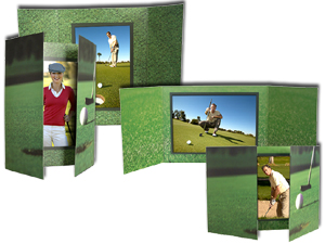 Golf Gate Fold Event Photo Folders For 4x6 (25 Pack)