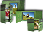 Golf Gate Fold Event Photo Folders For 5x7 (25 Pack)