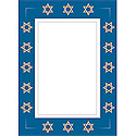 Holiday Photo Greeting Cards - Hanukkah Stars of David (10 Pack)