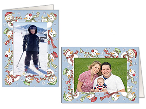 Snowmen Photo Greeting Cards (10 Pack)