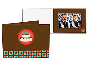 Birthday Cake 5x7 Horizontal Photo Folders (25 Pack)