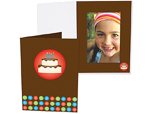 Birthday Cake 4x6 Vertical Photo Folders (25 Pack)