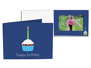 Birthday Cupcake 4x6 Horizontal Photo Folders (25 Pack)