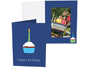 Birthday Cupcake 5x7 Vertical Photo Folders (25 Pack)