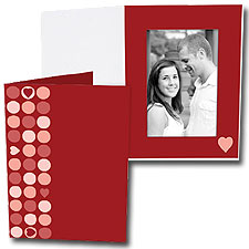 Heart Dots 4x6 Vertical Photo Folders (25 Pack)