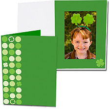 Lucky Clover 4x6 Vertical Photo Folders (25 Pack)