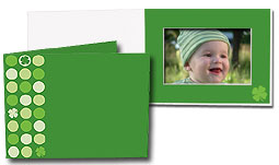Lucky Clover 4x6 Horizontal Photo Folders (25 Pack)