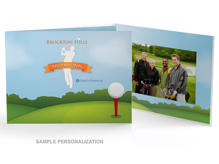 Golf Course Illustration Photo Folders For Horizontal 4x6 (25)