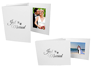 Just Married 4x6 Event Photo Folders (25 Pack)