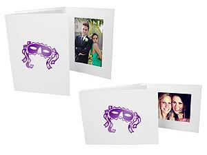 Mardi Gras Mask 4x6 Event Photo Folders (25 Pack)