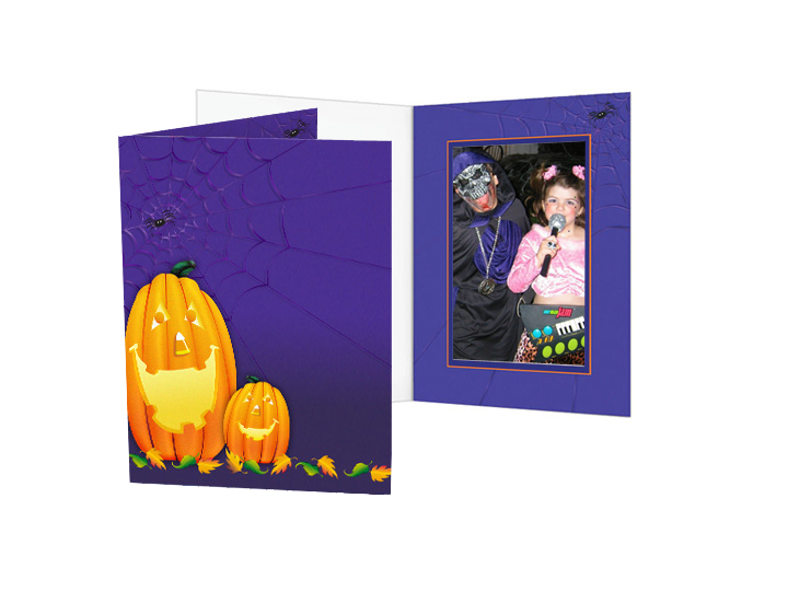 Halloween Pumpkins Photo Folders For 4x6 (25 Pack) - Vertical