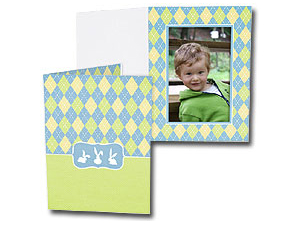 Easter Argyle 4x6 Vertical Event Photo Folders (25 Pack)