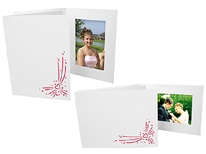 Red Valentine Hearts Event Photo Folders For 4x6 (25 Pack)