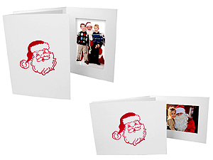 Santa Christmas Photo Folders For 4x6 (25 Pack)