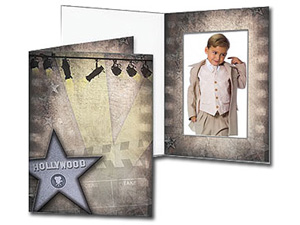 Hollywood Theme 4x6 Vertical Event Photo Folders (25 Pack)