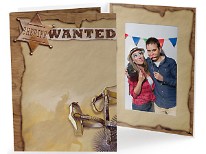 Western Theme 4x6 Vertical Event Photo Folders (25 Pack)