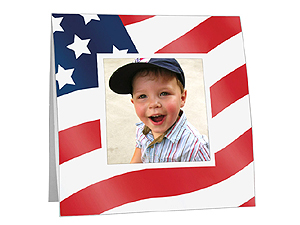 American Flag Polaroid Easel Frames (25 Pack)