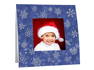 Snowflakes Polaroid Easel Frames (25 Pack)