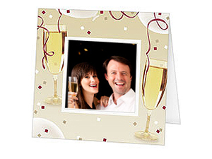 Champagne Celebration Polaroid Easel Frames (25 Pack)
