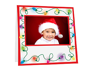 Holiday Lights Instax Paper Easel Frames (25 Pack)