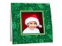 Green Holly Christmas Polaroid Easel Frames (25 Pack)