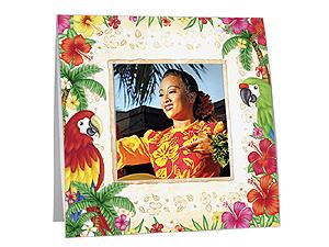 Hawaiian Luau Polaroid Easel Picture Frames (25 Pack)