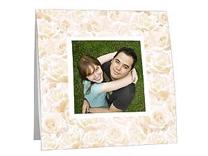 Antique Cream Roses Polaroid Easel Frames (25 Pack)
