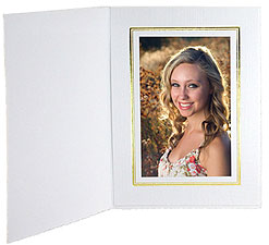Cardboard Photo Folders w/Foil Border 3-1/2x5 Vertical (25 Pack)