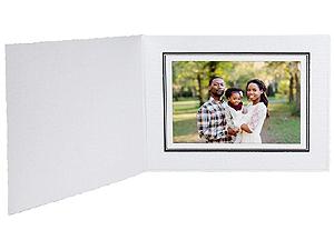 Cardboard Photo Folders w/Foil Border 5x3-1/2 Horiz (25 Pack)