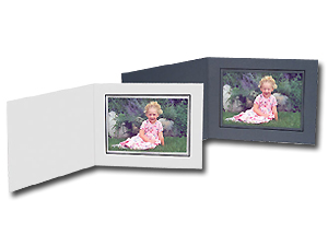 Cardboard Photo Folders w/Foil Border 10x8 Hztl (25 Pack)